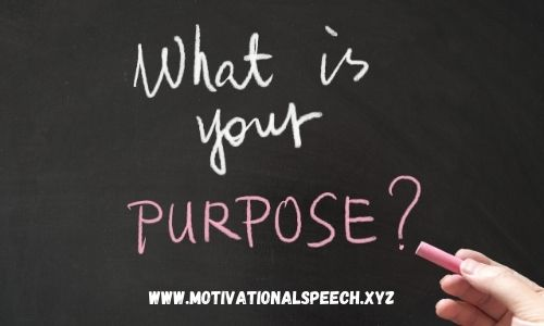Purpose - Motivational Speeches for Sports