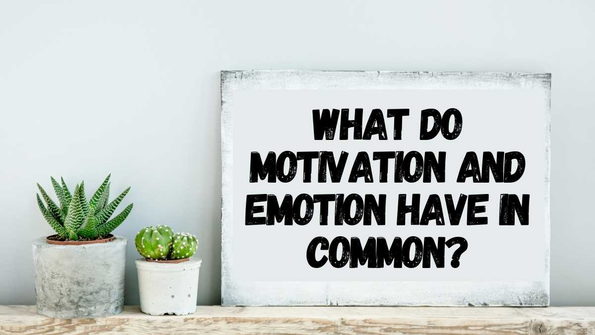 What Do Motivation and Emotion Have in Common?