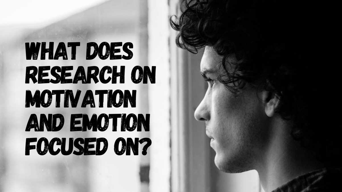 What Does Research On Motivation and Emotion Focused On?