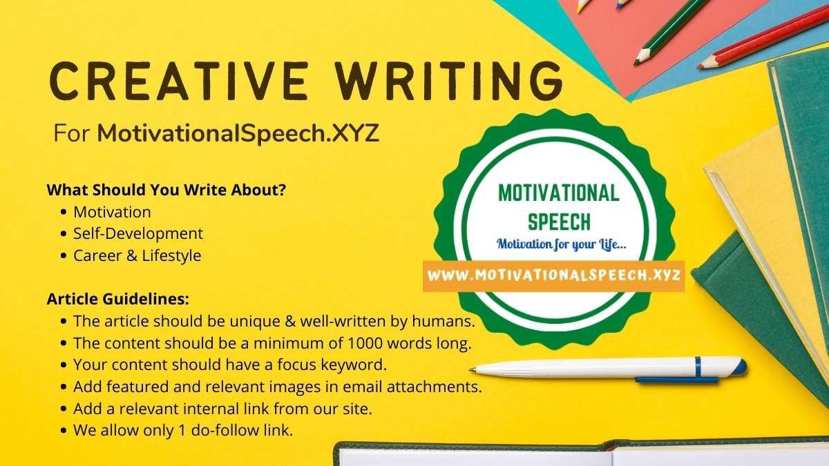 Write for us - Motivational Speech Website